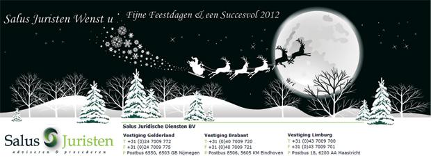Salus Juristen wenst u fijne feestdagen & een succesvol 2012